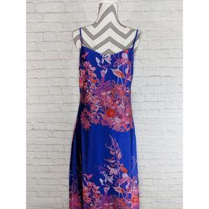 Banana Republic Floral Strappy Midi Slip Dress